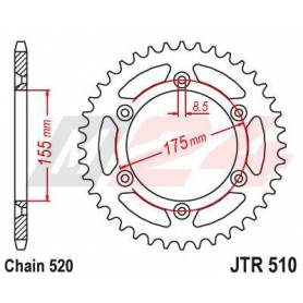Steel Rear Sprocket. JTR510.46