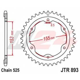 Steel Rear Sprocket. JTR893.38