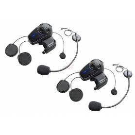 SMH10 Motorcycle Bluetooth Headset/Intercom with Universal Microphone Kit Dual Pack