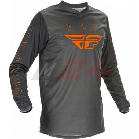FLY Racing F-16 Shirt Grey /Orange