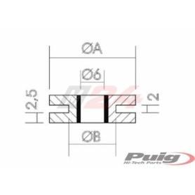 Puig Motorcycle Wellnut - Universal 18x10x2.5x2