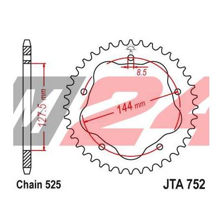 Aluminium Rear Race Sprocket. JTA752.42