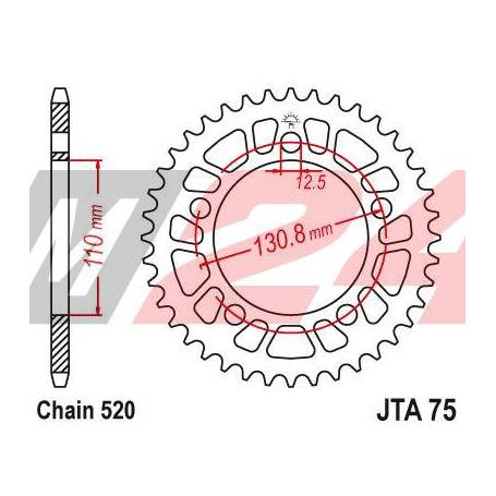 Aluminium Rear Race Sprocket. JTA75.44