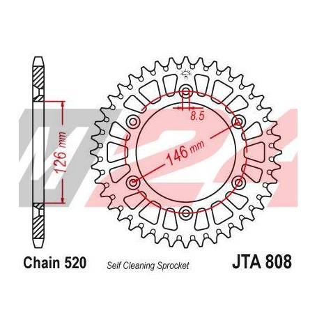 Aluminium Rear Race Sprocket. JTA808.48