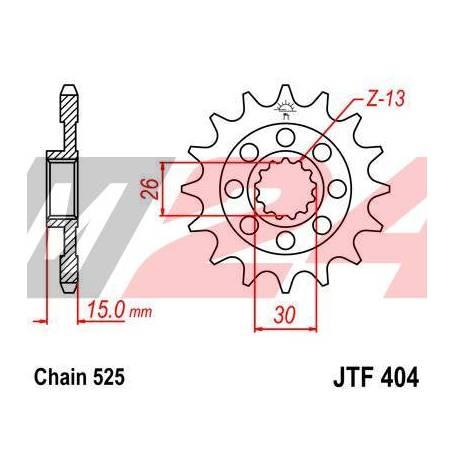 Steel Front Sprocket. JTF404.14