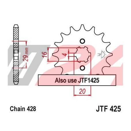 Steel Front Sprocket. JTF425.15