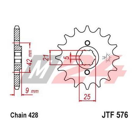 Steel Front Sprocket. JTF576.17