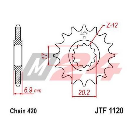 Steel Front Sprocket. JTF1120.15