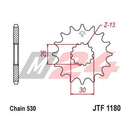 Steel Front Sprocket. JTF1180.17